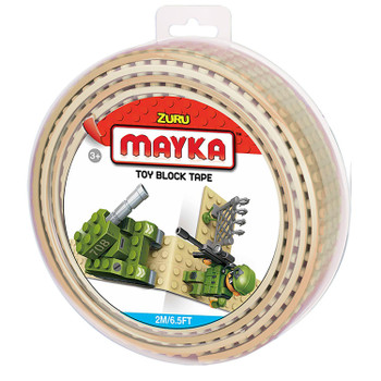 Mayka Toy Block Tape SAND 2m/6.5ft 4-Stud