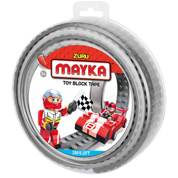 Mayka Toy Block Tape GREY 2m/6.5ft 4-Stud
