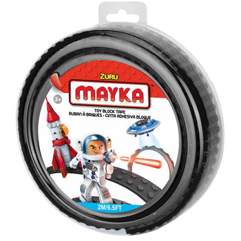 Mayka Toy Block Tape BLACK 2m/6.5ft 4-Stud