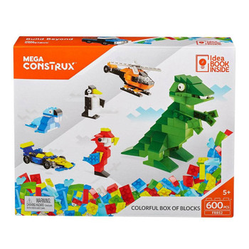 Mega Construx 600pc COLOURFUL BOX OF BLOCKS