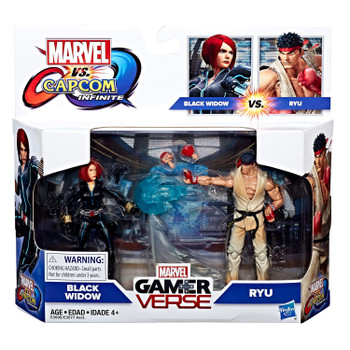 "Marvel Gamerverse Marvel vs. Capcom 3.75"" BLACK WIDOW vs. RYU 2-pack"