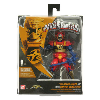 "Power Rangers Super Ninja Steel 5"" Lion Fire Armor GOLD RANGER Action Hero Figure"
