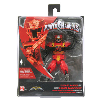 "Power Rangers Super Ninja Steel 5"" Lion Fire Armor RED RANGER Action Hero Figure"