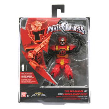 "Power Rangers Super Ninja Steel 5"" Lion Fire Armor RED RANGER Action Hero Figure"