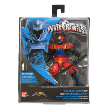 "Power Rangers Super Ninja Steel 5"" Lion Fire Armor BLUE RANGER Action Hero Figure"