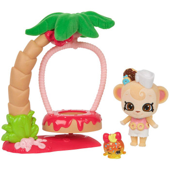 Shopkins Wild Style SWEET DONUT SWING with DUNCAN Shoppet + COCO ANNA Shopkin
