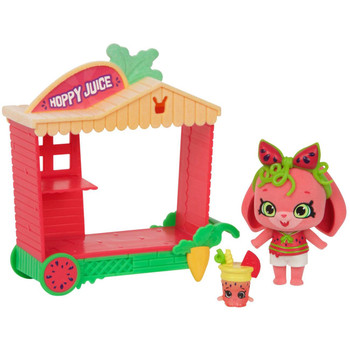 Shopkins Wild Style HOPPY JUICE CART with MELONIE HOPS Shoppet + MELINA SMOOTHIE Shopkin