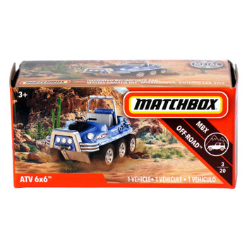 Matchbox Power Grabs ATV 6x6 1:64 Scale Die-cast Vehicle