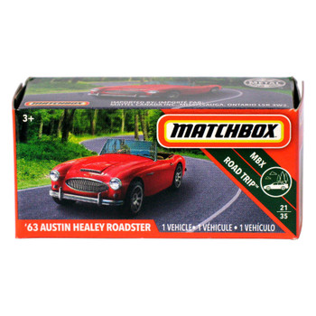 Matchbox Power Grabs '63 AUSTIN HEALEY ROADSTER 1:64 Scale Die-cast Vehicle
