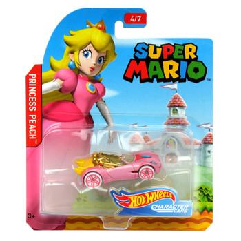 Hot Wheels Super Mario Bros PRINCESS PEACH 1:64 Scale Die-cast Character Car