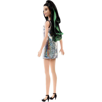 Barbie Fashionistas Doll 110 - Tall with Dark Hair and Glittery Tank Dress