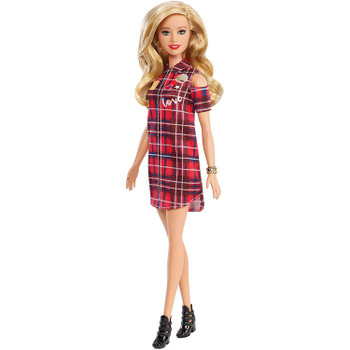 Barbie Fashionistas Doll 113 - Original with Blonde Hair and Red Plaid Dress