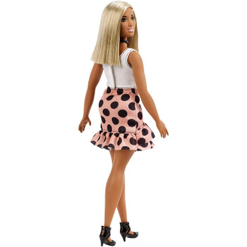 Barbie Fashionistas Doll 111 - Curvy with Blonde Hair and Pink Polka Dot Skirt
