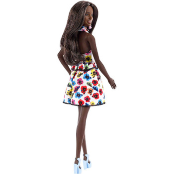 Barbie Fashionistas Doll 106 - Original with Brunette Hair and Floral Print Dress