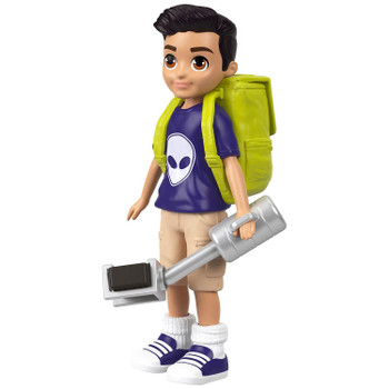 Featuring an active pose, 3.5-inch (9 cm) Selfie Stick Nicolas doll is ready for journalistic adventure!