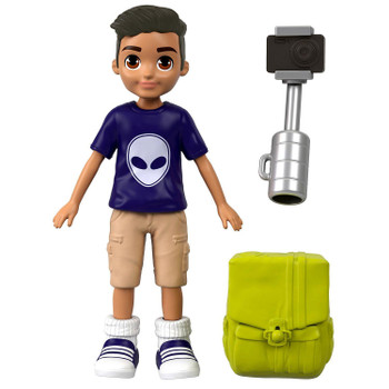 "Accessories include a selfie stick for quick ""photos"" and a backpack for essentials."
