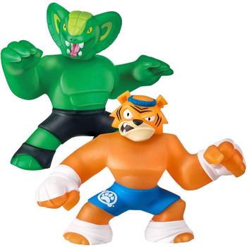 Heroes of Goo Jit Zu TYGOR Versus VIPER Figure Twin Pack