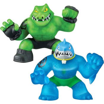 Heroes of Goo Jit Zu THRASH Versus ROCK JAW Figure Twin Pack