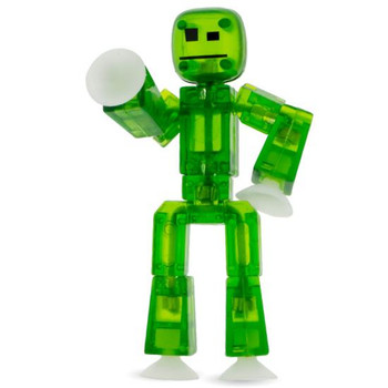 Stikbot Dark Green Translucent Figure