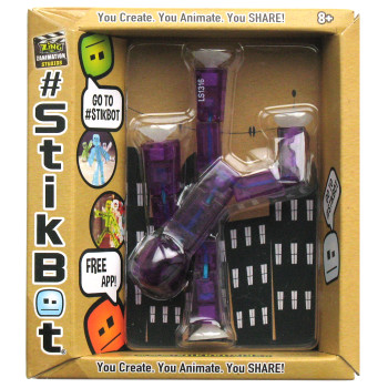 Stikbot Purple Translucent Figure