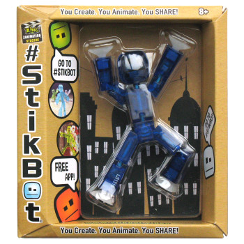 Stikbot Dark Blue Translucent Figure