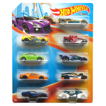 Hot Wheels 1:64 Scale Diecast Vehicle 9-Pack
