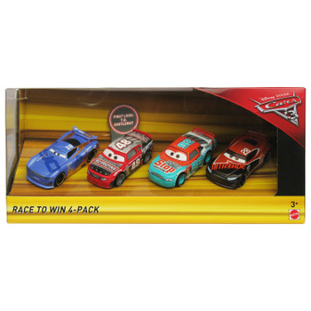 Disney Pixar Cars 3: RACE TO WIN 4-Pack of 1:55 Scale Die-Cast Vehicles