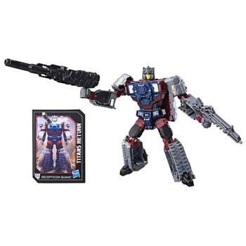 Transformers Deluxe Class Decepticon Quake and Titan Master Chasm figures.