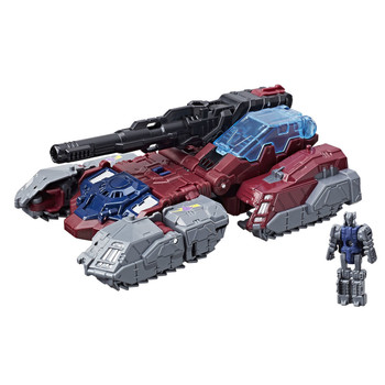 5.5 inch (14 cm) Decepticon Quake figure changes from robot to tank in 10 steps.