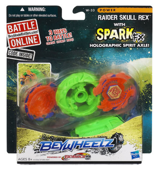 Beyblade Beywheelz Raider Skull Rex in packaging