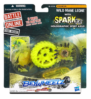 Beyblade Beywheelz Wild Mane Leone in packaging