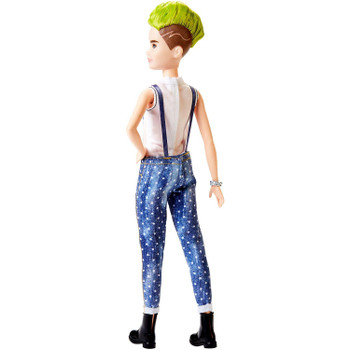 Barbie Fashionistas Doll #124 with a green mohawk