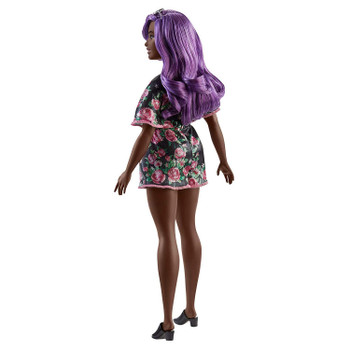 Barbie Fashionistas Doll #125 has long wavy purple hair