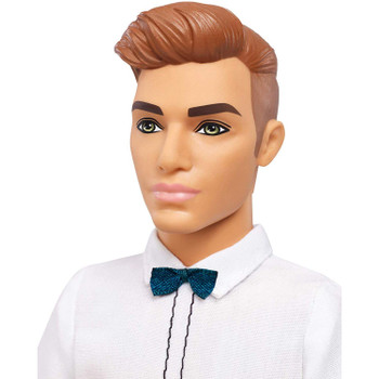 Ken Fashionistas Doll 117 has slick brown hair