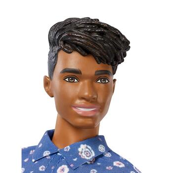 Ken Fashionistas Doll 114 has dark hair