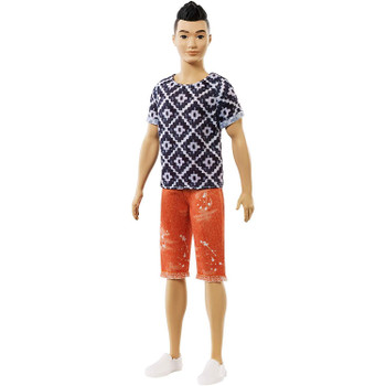 Ken Fashionistas Doll 115 wears a bohemian hip fashion