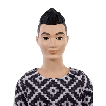 Ken Fashionistas Doll 115 has asian fatures