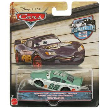 Disney Pixar Cars: Thomasville Racing Legends PARKER BRAKESTON 1:55 Scale Die-Cast Vehicle in packaging