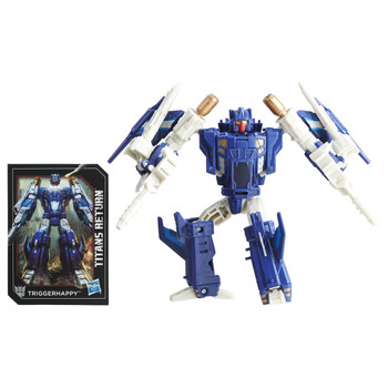 Transformers Deluxe Class Triggerhappy and Titan Master Blowpipe figures.