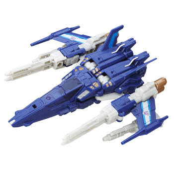 5.5 inch (14 cm) Triggerhappy figure changes from robot to jet in 17 steps.