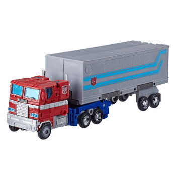 Transformers Generations War for Cybertron: Earthrise Leader Class OPTIMUS PRIME Action Figure in G1 truck vehicle mode.