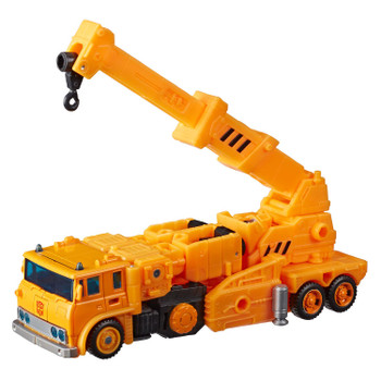 Transformers War for Cybertron: Earthrise Voyager Class Autobot GRAPPLE Action Figure in vehicle mode.