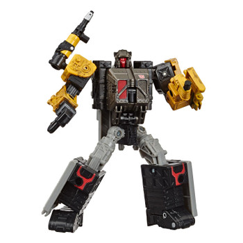 Transformers War for Cybertron: Earthrise Deluxe Class IRONWORKS Modulator Action Figure in robot mode.