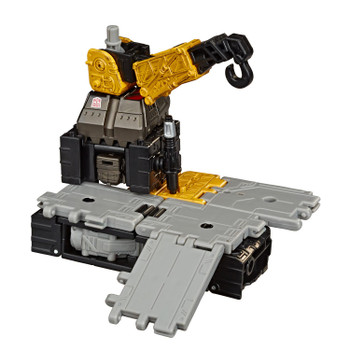 Transformers War for Cybertron: Earthrise Deluxe Class IRONWORKS Modulator Action Figure in Battle Station mode.