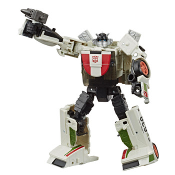 Transformers War for Cybertron: Earthrise Deluxe Class WHEELJACK Action Figure in robot mode.