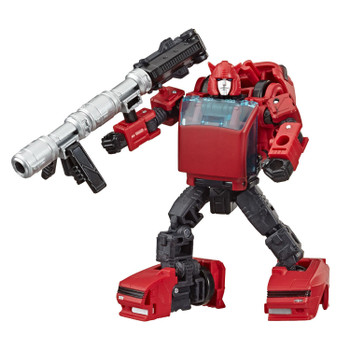 Transformers War for Cybertron: Earthrise Deluxe Class CLIFFJUMPER Action Figure in robot mode.