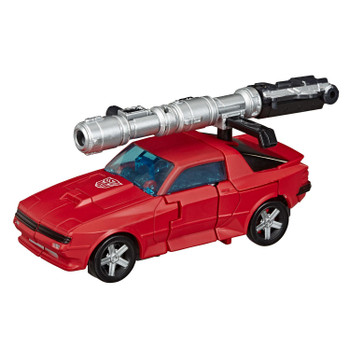 Transformers War for Cybertron: Earthrise Deluxe Class CLIFFJUMPER Action Figure in vehicle mode.