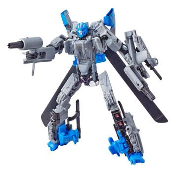 Transformers Studio Series #22 Deluxe Class Bumblebee Movie DROPKICK Action Figure in robot mode.
