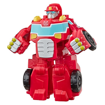 Size right for little hands, the Transformers Rescue Bots Academy Rescan HEATWAVE the Fire-Bot stands around 4.5 inches (11.5 cm) tall.