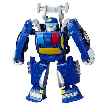 Transformers Rescue Bots Academy Rescan CHASE the Police-Bot in robot mode.